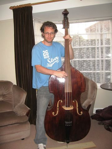 Tom and new upright bass